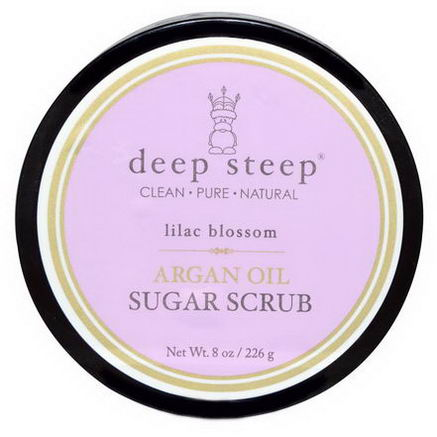 Deep Steep, Argan Oil Sugar Scrub, Lilac Blossom, 8oz (226g)