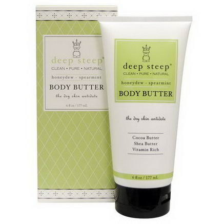 Deep Steep, Body Butter, Honeydew - Spearmint, 6 fl oz (177 ml)