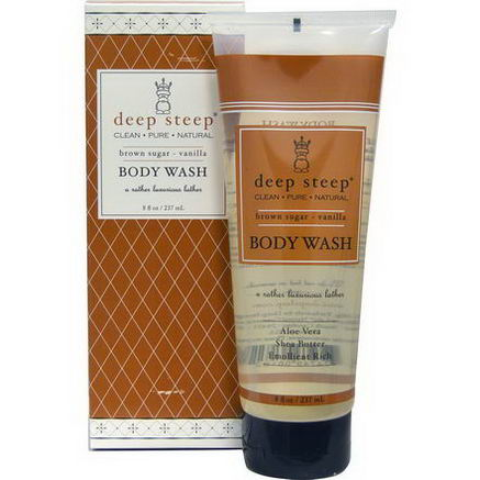 Deep Steep, Body Wash, Brown Sugar- Vanilla, 8 fl oz (237 ml)
