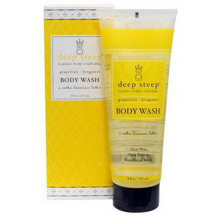 Deep Steep, Body Wash, Grapefruit - Bergamot, 8 fl oz (237 ml)