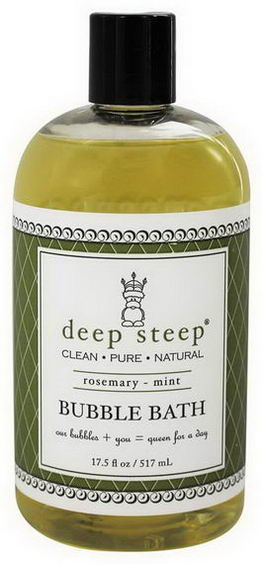 Deep Steep, Bubble Bath, Rosemary - Mint, 17.5 fl oz (517 ml)