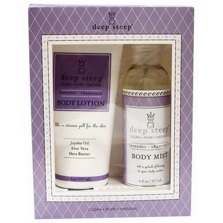 Deep Steep, Dynamic Duo Gift Set, Lavender-Chamomile, 2 Piece Set