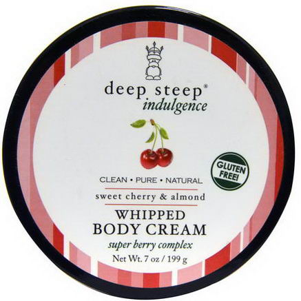 Deep Steep, Indulgence, Whipped Body Cream, Sweet Cherry & Almond, 7oz (199g)