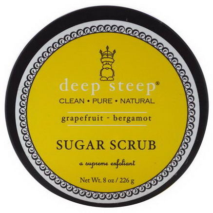 Deep Steep, Sugar Scrub, Grapefruit - Bergamot, 8oz (226g)