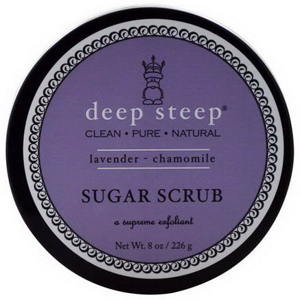 Deep Steep, Sugar Scrub, Lavender - Chamomile, 8oz (226g)