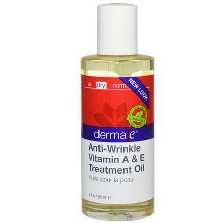 Derma E, Anti-Wrinkle Vitamin A & E Treatmet Oil, 2 fl oz (60 ml)