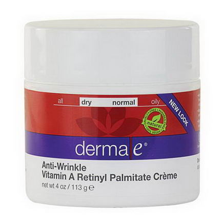 Derma E, Anti-Wrinkle Vitamin A Retinyl Palmitate Cream, 4oz (113g)