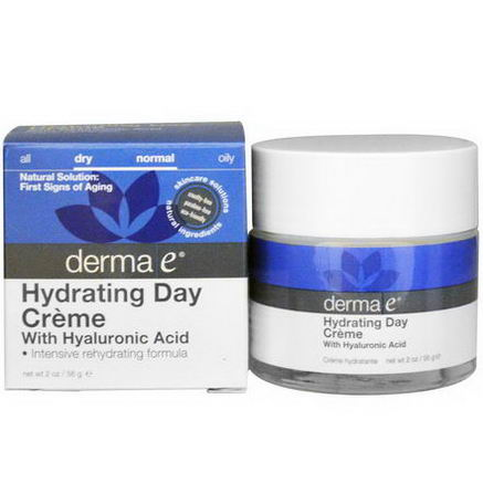 Derma E, Hydrating Day Cream, With Hyaluronic Acid, 2oz (56g)
