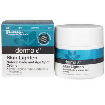 Derma E, Skin Lighten, Natural Fade and Age Spot Cream, 2oz (56g)