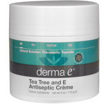 Derma E, Tea Tree and E Antiseptic Creme, 4oz (113g)