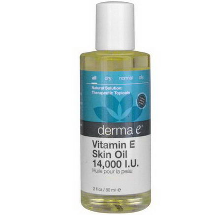 Derma E, Vitamin E Skin Oil, 14, 000 IU, 2 fl oz (60 ml)