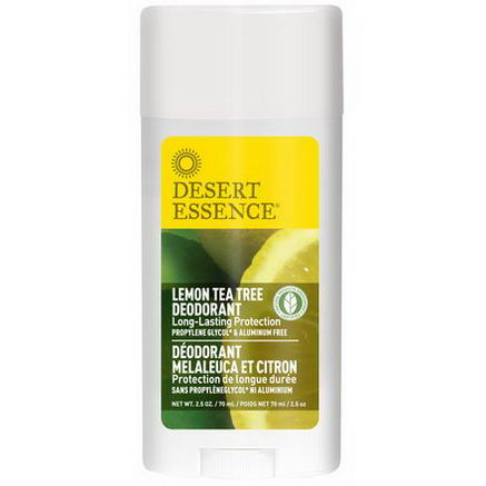 Desert Essence, Deodorant, Lemon Tea Tree, 2.5oz (70 ml)