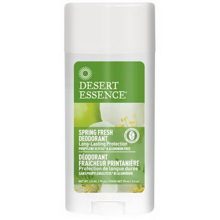 Desert Essence, Deodorant, Spring Fresh, 2.5oz (70 ml)