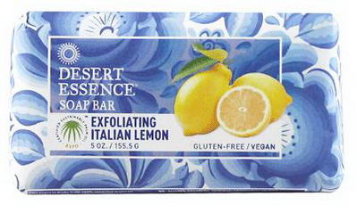 Desert Essence, Soap Bar, Exfoliating Italian Lemon, 5oz (155.5g)