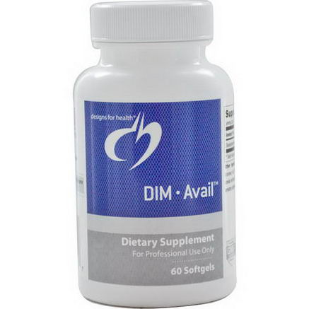 Designs For Health, DIM Avail, 60 Softgels