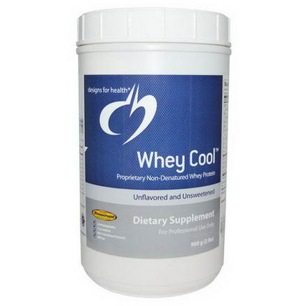 Designs For Health, Whey Cool, Unflavored and Unsweetened, 2 lbs (900g)