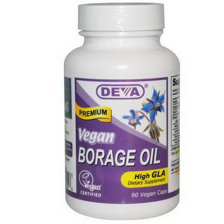 Deva, Borage Oil, 90 Vegan Caps