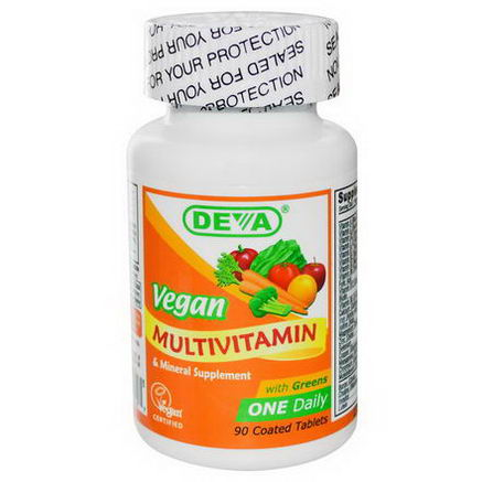 Deva, Multivitamin & Mineral Supplement, Vegan, 90 Coated Tablets