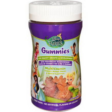 Disney, Fairies, Gummies, MultiVitamin, 60 Gummies