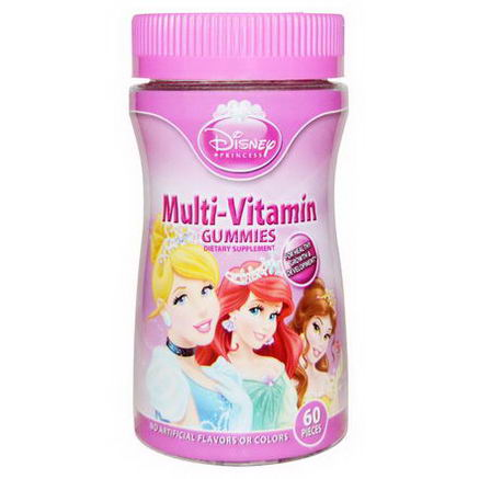 Disney, Princess, Multi-Vitamin Gummies, 60 Pieces