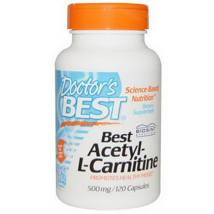 Doctor's Best, Best Acetyl-L-Carnitine, 500mg, 120 Capsules
