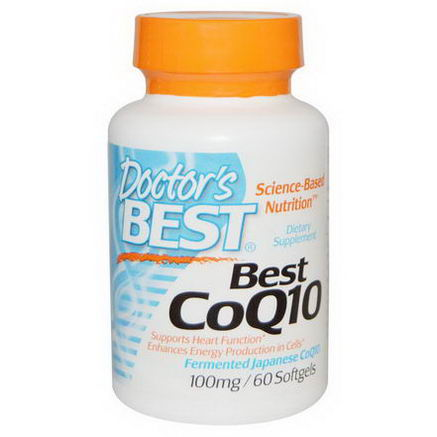Doctor's Best, Best CoQ10, 100mg, 60 Softgels