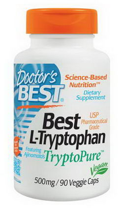 Doctor's Best, Best L-Tryptophan, 500mg, 90 Veggie Caps