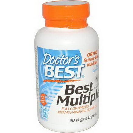 Doctor's Best, Best Multiple, Fully Optimized Vitamin-Mineral Complex, 90 Veggie Caps
