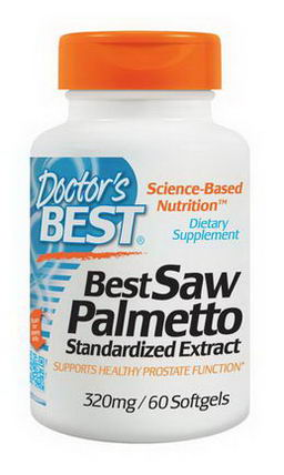 Doctor's Best, Best Saw Palmetto, Standardized Extract, 320mg, 60 Softgels