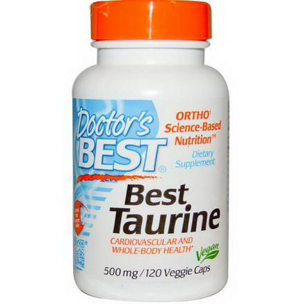 Doctor's Best, Best Taurine, 500mg, 120 Veggie Caps