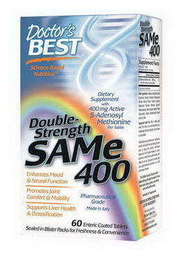 Doctor's Best, SAMe 400, Double-Strength, 60 Enteric Coated Tablets