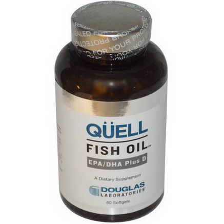 Douglas Laboratories, Quell Fish Oil, EPA/DHA Plus D, 60 Softgels