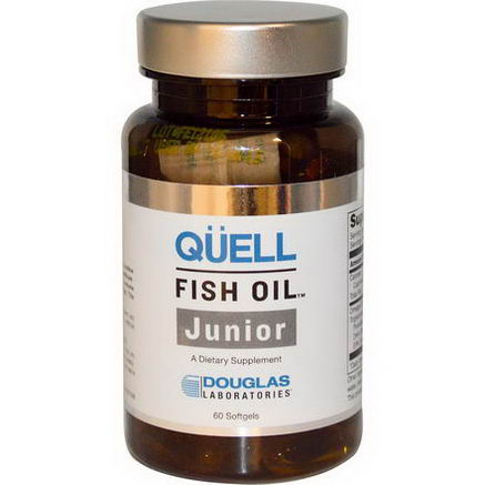 Douglas Laboratories, Quell, Fish Oil Junior, 60 Softgels