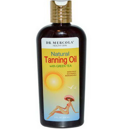 Dr. Mercola, Healthy Skin, Natural Tanning Oil with Green Tea, 8 fl oz (236 ml)