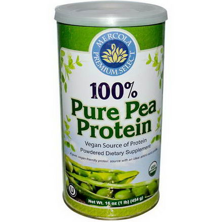 Dr. Mercola, Premium Select, 100% Pure Pea Protein, 16oz (454g) Powder