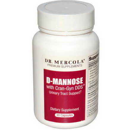 Dr. Mercola, Premium Supplements D-Mannose, with Cran-Gyn DDS, 30 Capsules