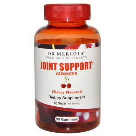Dr. Mercola, Premium Supplements, Joint Support Gummies, Cherry Flavored, 90 Gummies