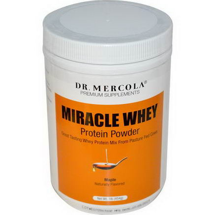 Dr. Mercola, Premium Supplements, Miracle Whey Protein Powder, Maple, 1 lb (454g)