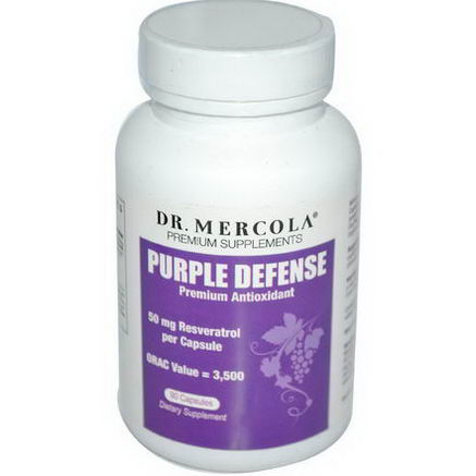 Dr. Mercola, Premium Supplements, Purple Defense, Premium Antioxidant, 90 Capsules