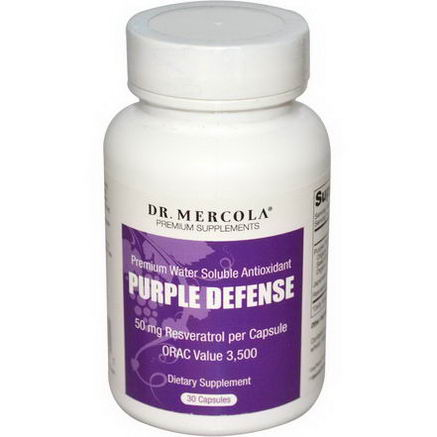 Dr. Mercola, Premium Supplements, Purple Defense, Premium Water Soluble Antioxidant, 30 Capsules