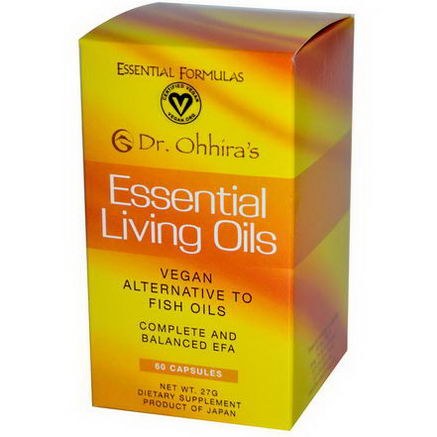 Dr. Ohhira's, Essential Formulas Inc. Essential Living Oils, 60 Capsules