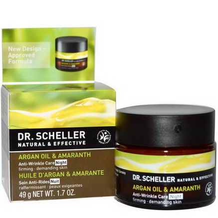 Dr. Scheller, Anti-Wrinkle Care, Night, Argan Oil & Amaranth, 1.7oz (49g)