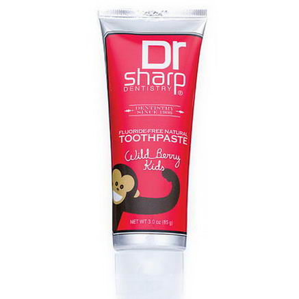 Dr. Sharp Natural Oral Care, Kids Fluoride-Free Natural Toothpaste, Wild Berry, 3.0oz (85g)