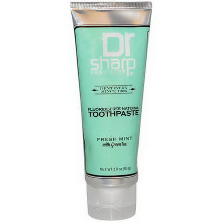 Dr. Sharp Natural Oral Care, Toothpaste, Fluoride-Free, Fresh Mint, 3.0oz (85g)