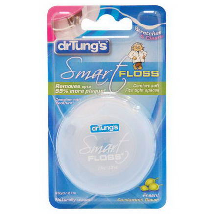 Dr. Tung's, Smart Floss, Cardamom Flavor, 30 yd (27 m)