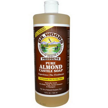 Dr. Woods, Pure Almond Castile Soap, 32 fl oz (946 ml)