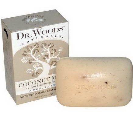 Dr. Woods, Raw Shea Butter Soap, Coconut Milk, 5.25oz (149g)