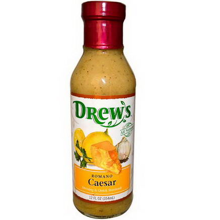 Drew's All Natural, Dressing & Quick Marinade, Romano Caesar, 12 fl oz (354 ml)