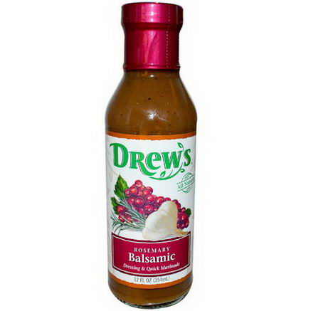Drew's All Natural, Dressing & Quick Marinade, Rosemary Balsamic, 12 fl oz (354 ml)