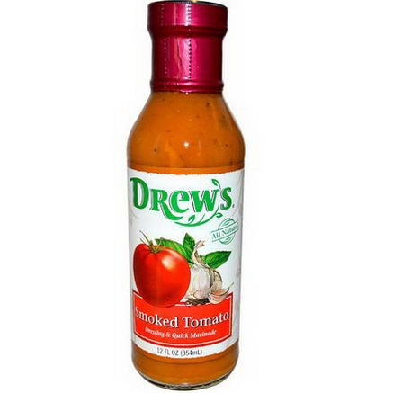 Drew's All Natural, Dressing & Quick Marinade, Smoked Tomato, 12 fl oz (354 ml)